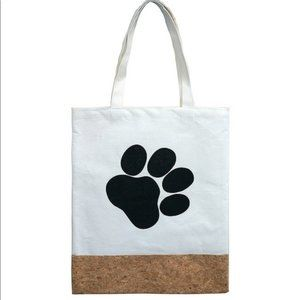 Two Material Paw Print Tote Bag Accessory